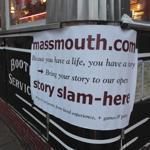 A story slam at Rosebud Bar and Grill in Somerville, hosted by a group called Massmouth.